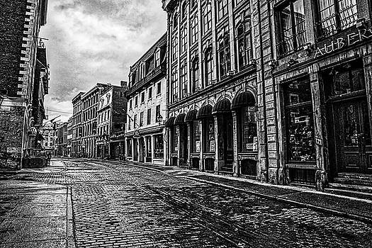 Wet Streets of Old Montreal by Darcy Michaelchuk