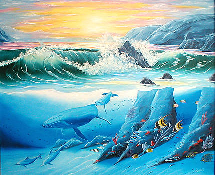 Whale and Dolphin Friends by Randall Brewer