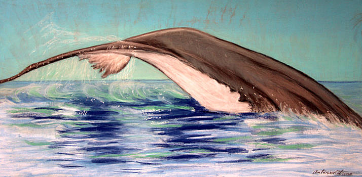 Whale Tail    Pastel   Sold by Antonia Citrino