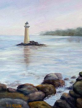Whaleback Light by Sharon E Allen
