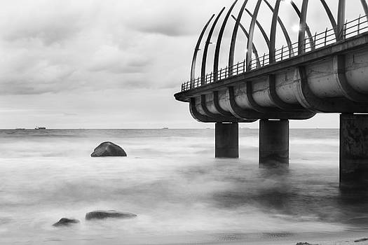 Whalebone pier in Black and White by Jesse Coutts
