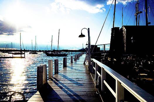 Wharf at Sunset by Susan Schumann