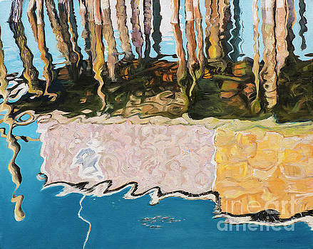 Wharf Reflections by Lynne Schulte