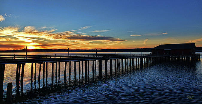 Wharf Sunset by Rick Lawler