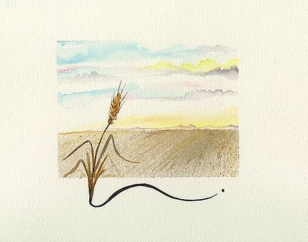 Wheat field study four by Darren Cannell