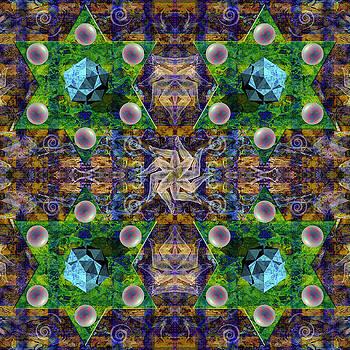 Wheel of Life Mandala by Julian Venter
