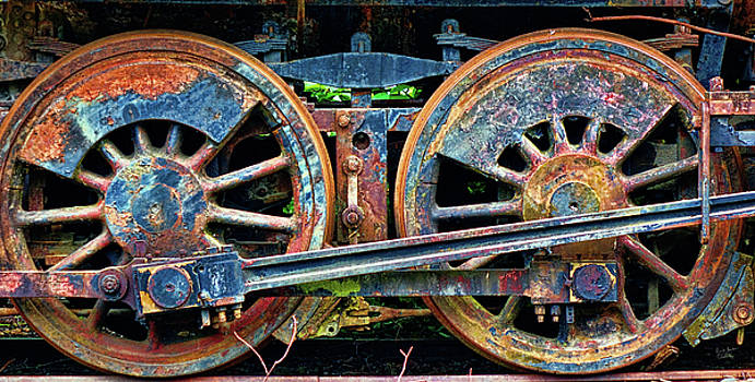Wheels of Progress-Enhanced Rust by Rick Lawler