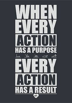 When Every Action Has A Purpose Every Action Has A Result Gym Motivational Quotes by Lab No 4