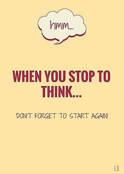 Eliza Donovan - When you stop to think...