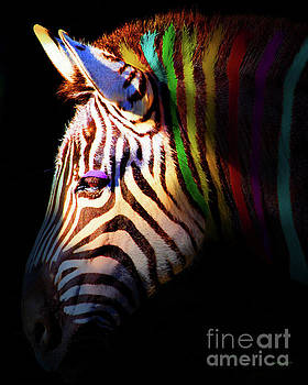 Wingsdomain Art and Photography - When Zebras Dream 7D8908 vertical