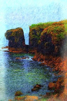 Where Cliffs Meet Sea-Irish coast by Richard Ortolano
