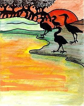 Where heron feed by Carol Allen Anfinsen