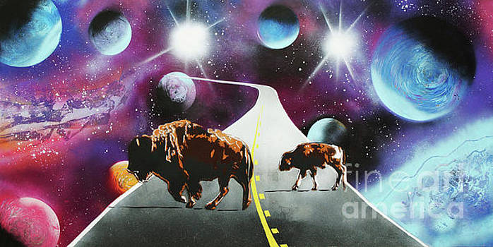 Where the Space Buffalo Roam II by Surj LA