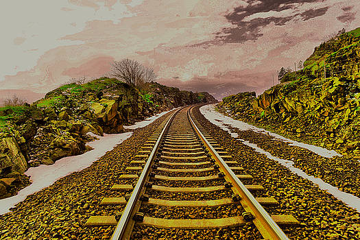 Where the track bends by Jeff Swan