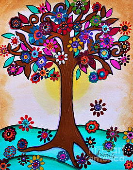 PRISTINE CARTERA TURKUS - WHIMSICAL BLOOMING TREE
