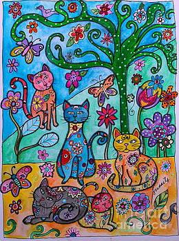 PRISTINE CARTERA TURKUS - WHIMSICAL CATS