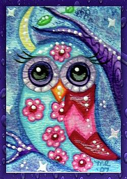 Whimsical Floral Owl by Monica Resinger