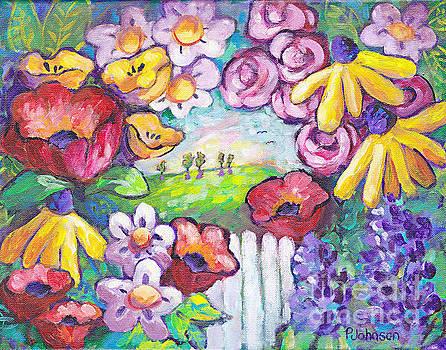 Peggy Johnson - Whimsical Garden Portal by Peggy Johnson