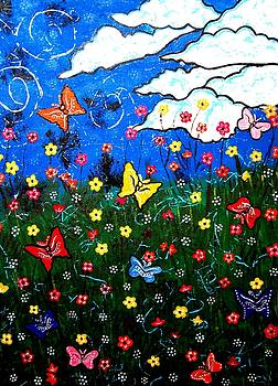 Whimsical Painting-Colorful whimsical nature by Priyanka Rastogi