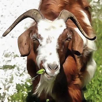 Tracey Harrington-Simpson - Whimsical Portrait Horned Goat