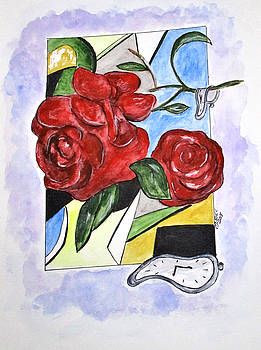 Whimsical Roses by Clyde J Kell