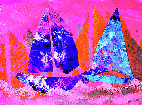 Whimsical sailboats 11-29-16 by Julianne Felton