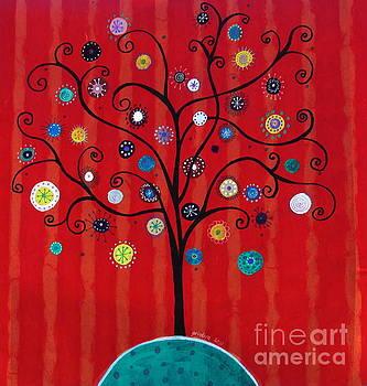 PRISTINE CARTERA TURKUS - Whimsical Tree of Hope