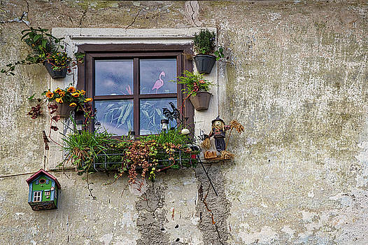 Whimsical Window - Slovenia by Stuart Litoff