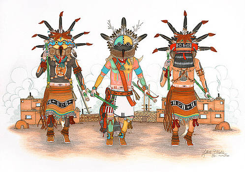 Whipper Kachinas by Lavelle Mahle
