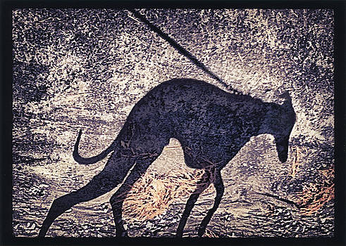 Whippet Silhouette by John Clum