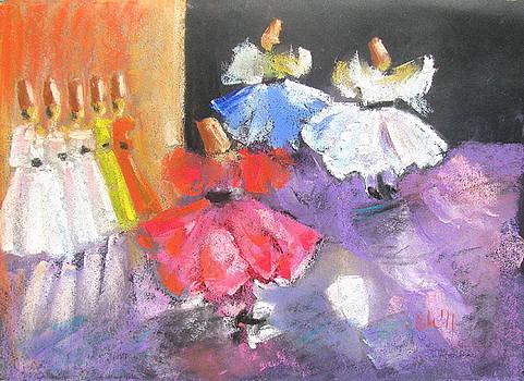 whirling dervishes from Turkey by Elena Malec