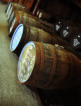 Whiskey Barrels at the Distillery by Caroline Reyes-Loughrey