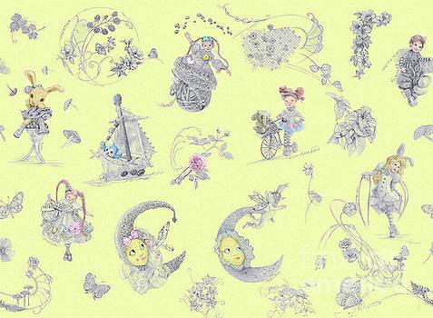 Whispering Daydreams in Soft Yellow by Nancy Lee Moran