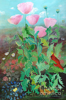 Whispering Pink Poppies by Robin Maria Pedrero