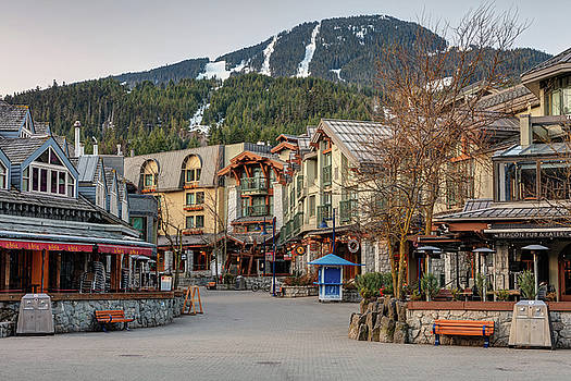 Whistler Village Square in Spring by Pierre Leclerc Photography