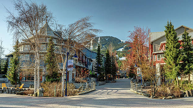 Whistler Village Stroll Panorama by Pierre Leclerc Photography