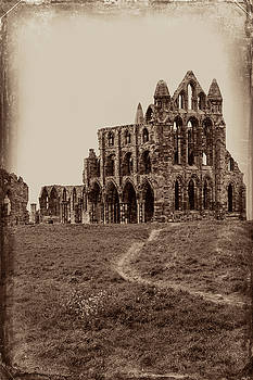 Whitby Abbey, Antiqued by Emily M Wilson