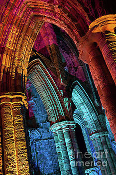 Whitby Abbey Illuminated as for Halloween and Whitby Goth Weeken by Martin Williams