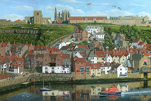 Whitby Harbor North Yorkshire  by Richard Harpum
