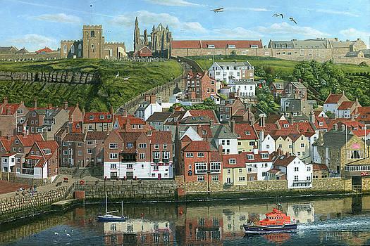 Whitby Harbor North Yorkshire  by Richard Harpum