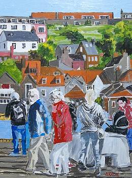 Whitby Harbour Stroll by Fred Urron