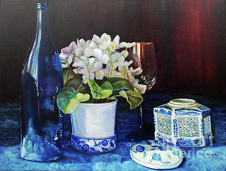 White African Violets by Marlene Book