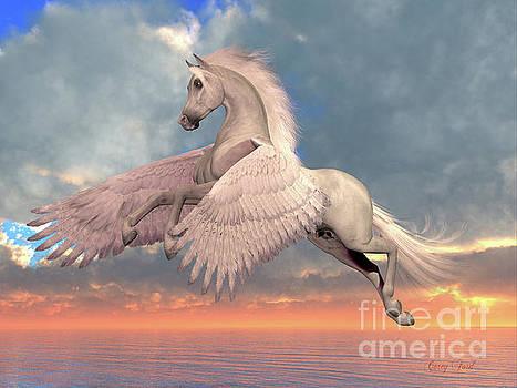 Corey Ford - White Arabian Pegasus Horse