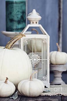 White Autumn Decorations by Stephanie Frey
