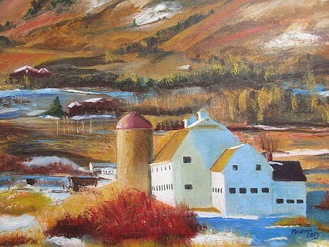 White Barn Utah by Maureen Obey