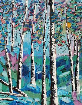White Birch Forest  by Beverly Livingstone