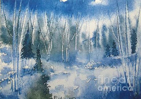 White Birch on a Winter's Day by Eunice Miller