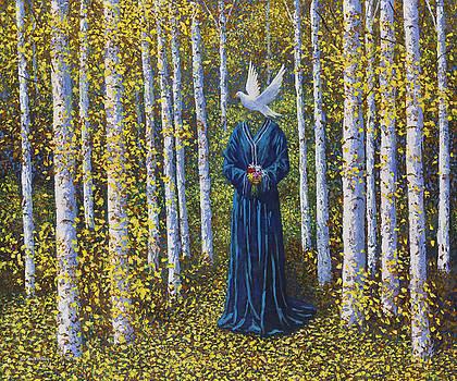 White Bird Dreams of the Aspen Trees by Joe Mckinney
