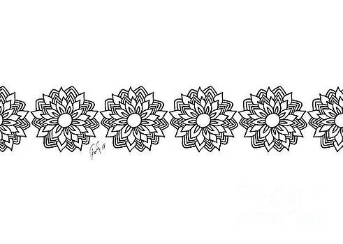 White Black Flowers by Fady Dow