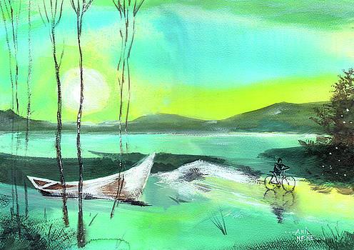 White Boat by Anil Nene